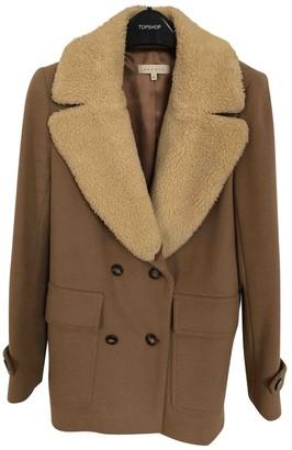 Sandro Beige Wool Coat for Women