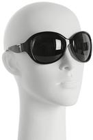 black round oversized sunglasses
