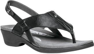 Propet Rejuve Leather Thong Sandals with Backstrap - Mariko