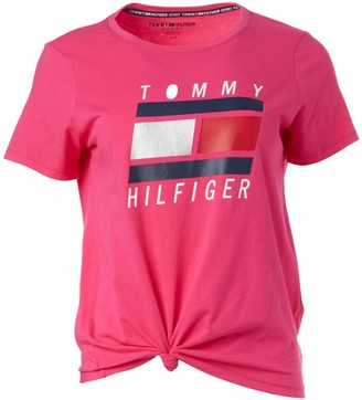 Tommy Hilfiger Women's Short Sleeve Scoop Neck Embroidered Logo T-Shirt