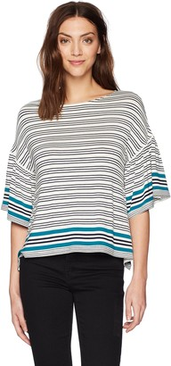 Max Studio Women's Short and Flair Sleeve Top