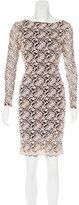 Alice + Olivia Brocade Sheath Dress