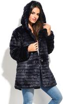 Everest Blue Faux Fur Coat