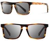 Shwood Men's 'Govy' 52Mm Wood Sunglasses - Black/ Maple/ Grey