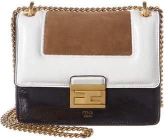 Fendi Kan U Small Leather & Suede Shoulder Bag