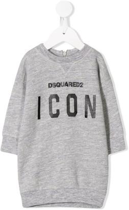DSQUARED2 Logo Print Sweatshirt Dress