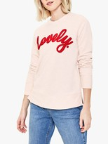 Oasis Lovely Slogan Sweatshirt