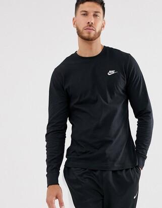 Nike Club long sleeve t-shirt in black