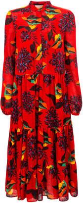 La DoubleJ Boho Ruffled-Hem Midi Dress