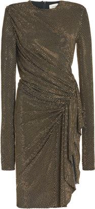 Alexandre Vauthier Draped Studded Stretch-Jersey Dress