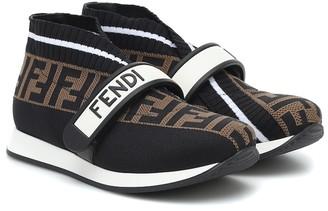 Fendi Kids FF jacquard sneakers