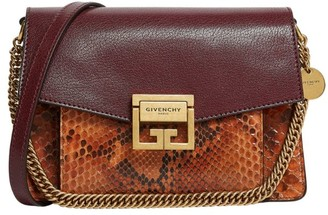 Givenchy Small Leather and Python GV3 Cross-Body Bag