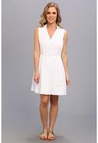 Lacoste Sleeveless Stripe Seersucker Shirtdress