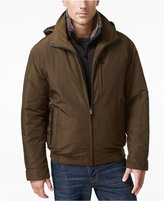 Weatherproof Men's Oxford Hooded Bomber