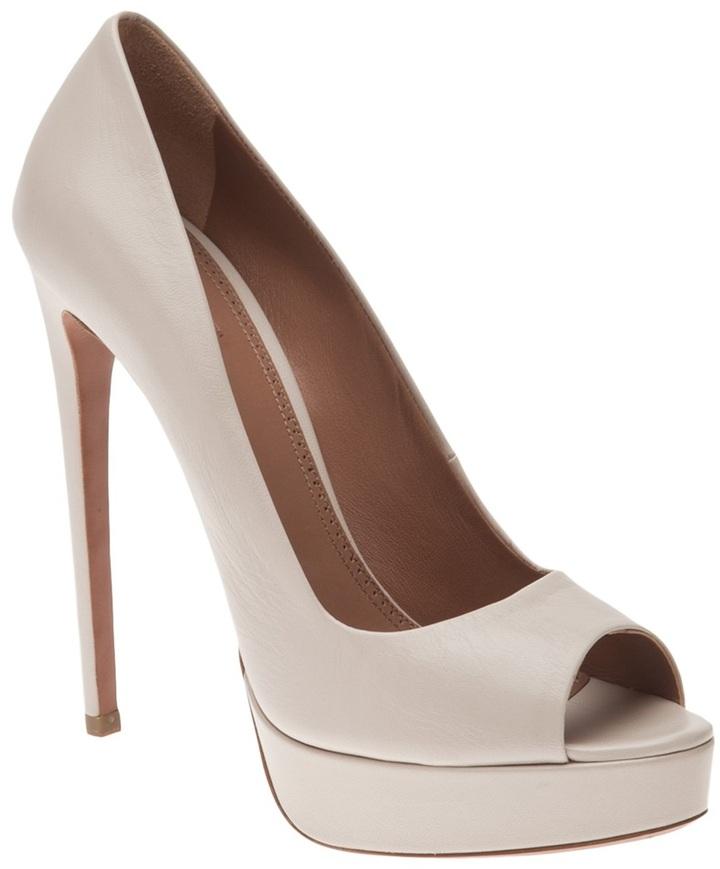 Alaia Vault chevreau escarpin heel
