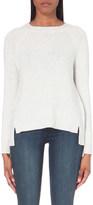The White Company Rib panel back split sweater