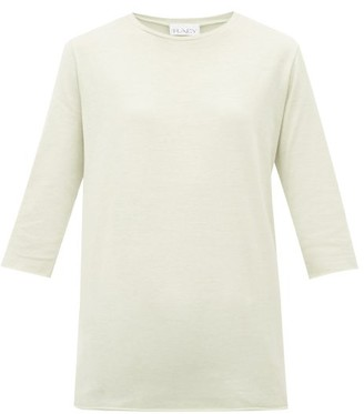 Raey Half-sleeve Cotton-jersey T-shirt - Womens - Light Green