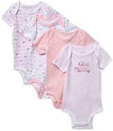Koala Baby Assorted Bodysuits - Pack of 4 (Baby Girls 0-9M)