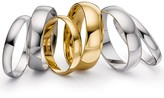 Love Gold Love GOLD 18ct White Gold D Shaped 5mm Wedding Band