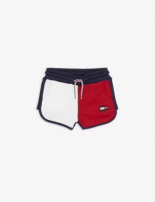 Tommy Hilfiger Colour-block cotton-blend shorts 4-16 years