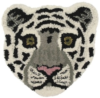 Doing Goods Wool Snowy Tiger Head Rug