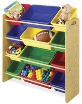 Whitmor 6436-2554-DS 12 Bin Toy Organizer, Primary