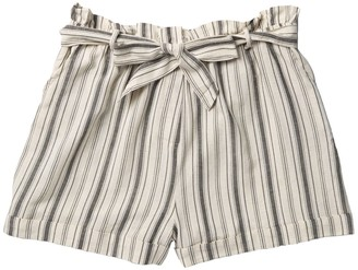 Planet Gold Striped Paperbag Shorts (Plus Size)