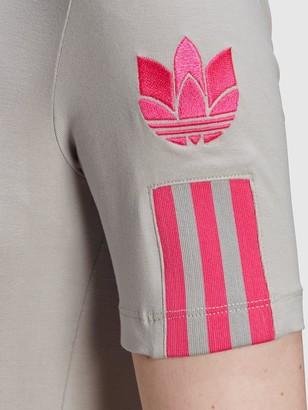 adidas 3D Trefoil T-Shirt - Grey/Pink