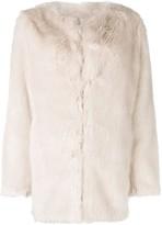 Helmut Lang Oversized Faux Fur Coat