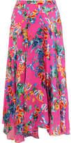 Saloni Ida-b Floral-print Devoré-chiffon Midi Skirt