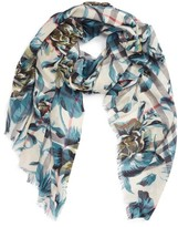 Burberry Women's Floral Print Wool & Silk Scarf