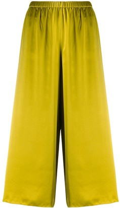 Theory Cropped Satin Trousers