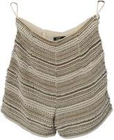 Genny Ecru Silk Shorts for Women Vintage
