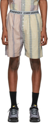 Liam Hodges Blue and Pink Solar Flair Shorts