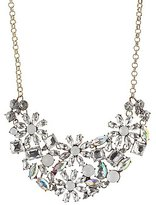 Charlotte Russe Faceted Gemstone Bib Necklace