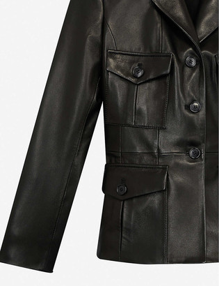 The Kooples Single-breasted leather blazer
