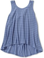 Copper Key Big Girls 7-16 Knot-Back Sleeveless Striped High-Low Top