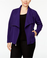 Anne Klein Plus Size Draped Jacket