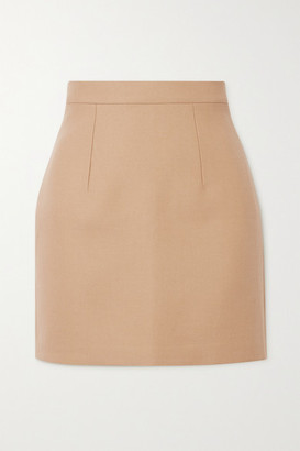 LADO BOKUCHAVA Cotton-drill Mini Skirt - Beige
