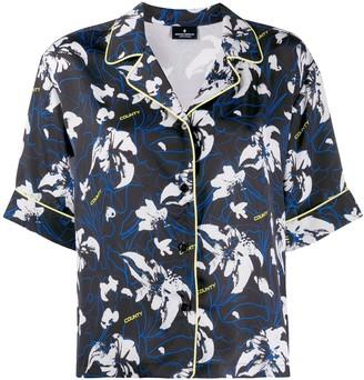 Marcelo Burlon County of Milan Flower Print Short Sleeve Shirt