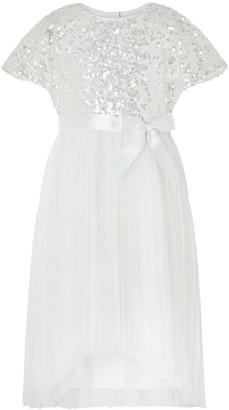 Monsoon Girls Truth Cape Sleeve Pleated Dress - Ivory