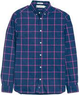 H&M Cotton Shirt - Dark blue/checked - Men