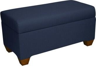 Charlton Homeâ® Radegunda Linen Upholstered Storage Bench Charlton HomeA Color: Linen Navy