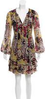 Diane von Furstenberg Paisley Print Silk Dress
