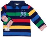 Jo-Jo JoJo Maman Bebe Striped Rugby Top (Baby) - Navy-18-24 Months