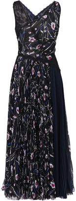 Jason Wu Collection Floral Print Long Dress