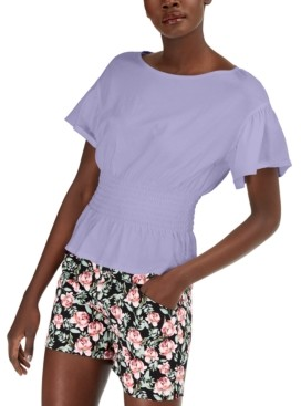 INC International Concepts Inc Smocked-Waist T-Shirt, Created for Macy's