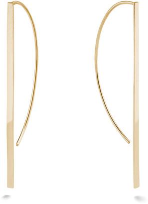 Lana 14k Gold Flat P-Hoop Earrings