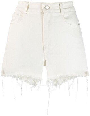 Stella McCartney Frayed Hem Denim Shorts