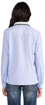Maison Scotch Button Down Shirt with Embellished Collar